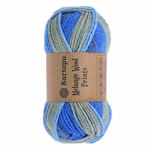 Melange wool prints