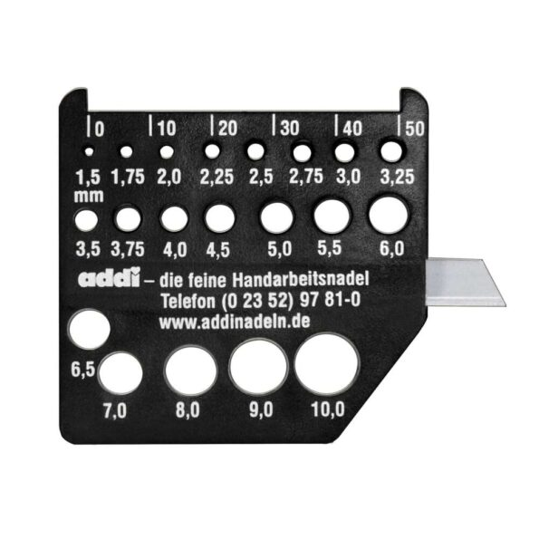 Линейка измеритель ADDI для спиц с ножом
