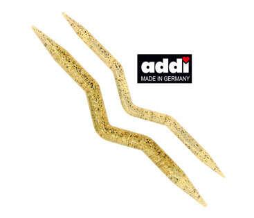 Спицы для вязания кос и жгутов пластик шампанское Addi 2 шт.