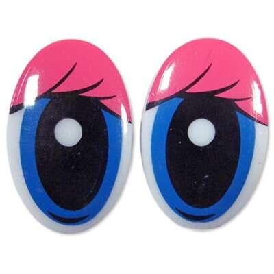 Глаза клеевые овальные(R2)